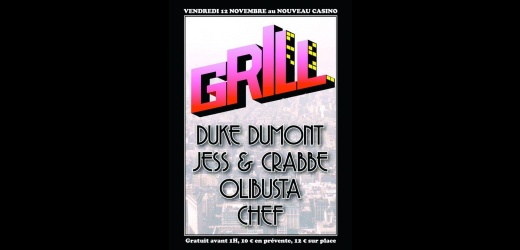 grill duke crabbe nouveau casino plaisir du plaisir Grill au Nouveau Casino : 2 places  gagner