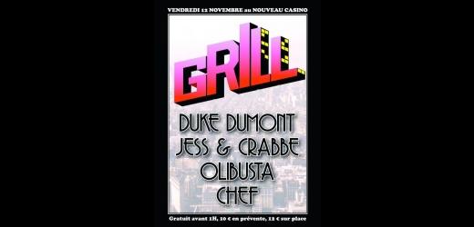 grill duke crabbe nouveau casino plaisir du plaisir Grill au Nouveau Casino : 2 places à gagner